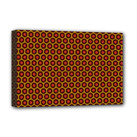Lunares Pattern Circle Abstract Pattern Background Deluxe Canvas 18  x 12
