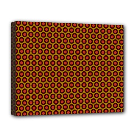 Lunares Pattern Circle Abstract Pattern Background Deluxe Canvas 20  X 16