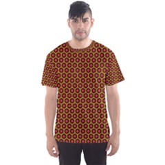Lunares Pattern Circle Abstract Pattern Background Men s Sport Mesh Tee