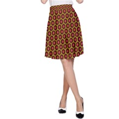 Lunares Pattern Circle Abstract Pattern Background A-Line Skirt