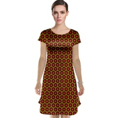 Lunares Pattern Circle Abstract Pattern Background Cap Sleeve Nightdress