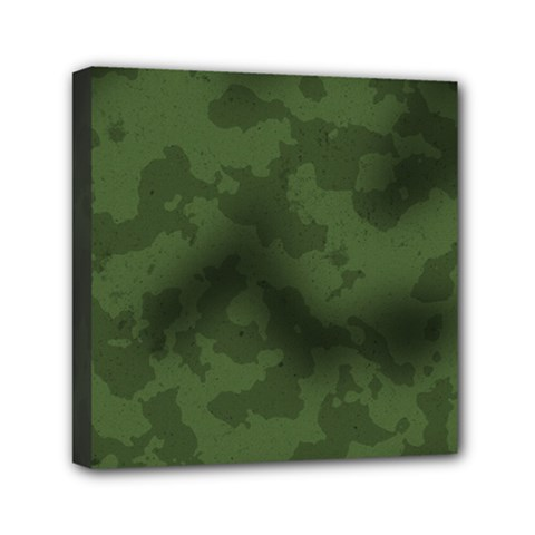 Vintage Camouflage Military Swatch Old Army Background Mini Canvas 6  X 6