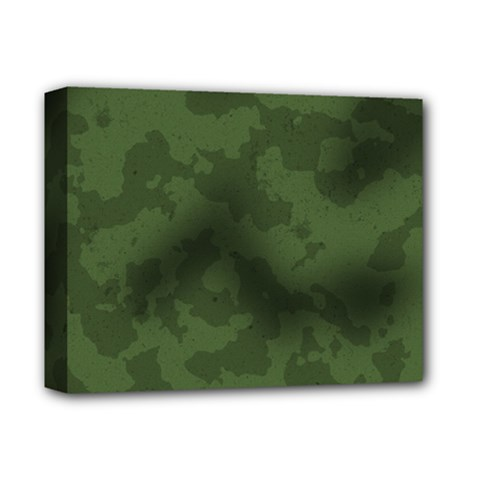 Vintage Camouflage Military Swatch Old Army Background Deluxe Canvas 14  x 11