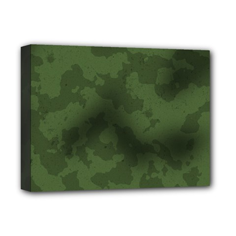 Vintage Camouflage Military Swatch Old Army Background Deluxe Canvas 16  X 12