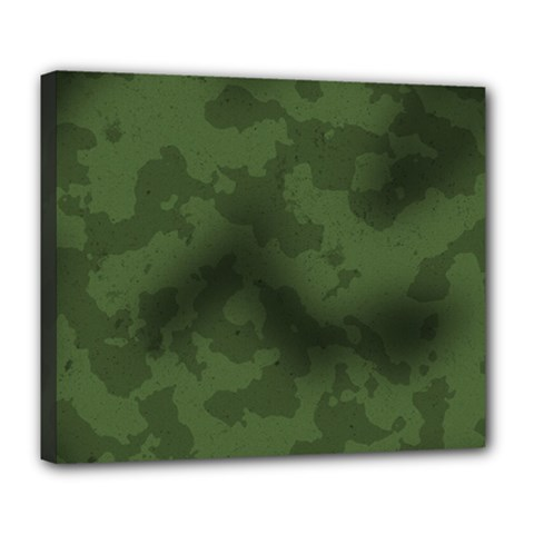 Vintage Camouflage Military Swatch Old Army Background Deluxe Canvas 24  x 20
