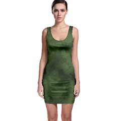 Vintage Camouflage Military Swatch Old Army Background Sleeveless Bodycon Dress