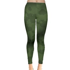 Vintage Camouflage Military Swatch Old Army Background Leggings