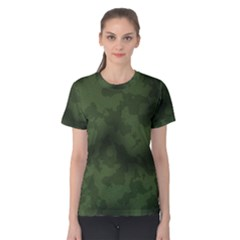 Vintage Camouflage Military Swatch Old Army Background Women s Cotton Tee