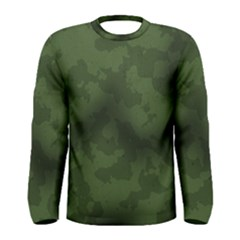 Vintage Camouflage Military Swatch Old Army Background Men s Long Sleeve Tee