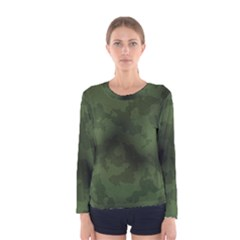 Vintage Camouflage Military Swatch Old Army Background Women s Long Sleeve Tee