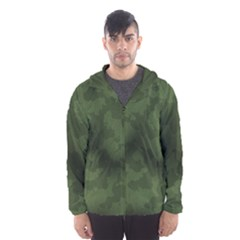 Vintage Camouflage Military Swatch Old Army Background Hooded Wind Breaker (Men)
