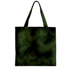 Vintage Camouflage Military Swatch Old Army Background Zipper Grocery Tote Bag
