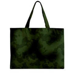 Vintage Camouflage Military Swatch Old Army Background Zipper Mini Tote Bag