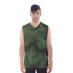 Vintage Camouflage Military Swatch Old Army Background Men s Basketball Tank Top