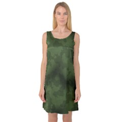 Vintage Camouflage Military Swatch Old Army Background Sleeveless Satin Nightdress