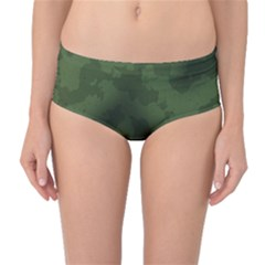 Vintage Camouflage Military Swatch Old Army Background Mid Waist Bikini Bottoms