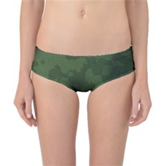 Vintage Camouflage Military Swatch Old Army Background Classic Bikini Bottoms
