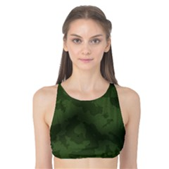 Vintage Camouflage Military Swatch Old Army Background Tank Bikini Top