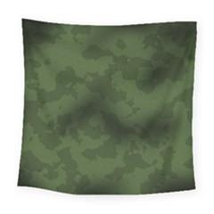 Vintage Camouflage Military Swatch Old Army Background Square Tapestry (large)