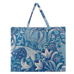 Floral pattern Zipper Large Tote Bag