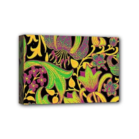 Floral pattern Mini Canvas 6  x 4