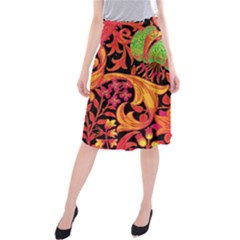 Floral pattern Midi Beach Skirt