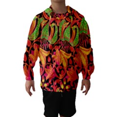 Floral pattern Hooded Wind Breaker (Kids)
