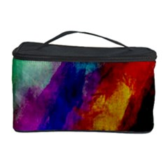 Colorful Abstract Paint Splats Background Cosmetic Storage Case