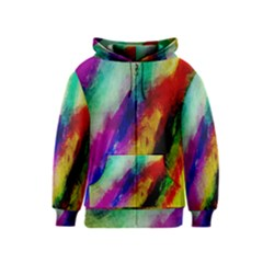 Colorful Abstract Paint Splats Background Kids  Zipper Hoodie