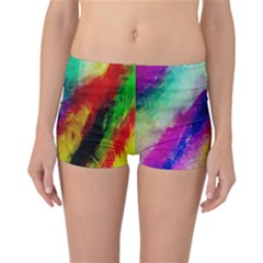 Colorful Abstract Paint Splats Background Reversible Bikini Bottoms