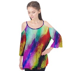 Colorful Abstract Paint Splats Background Flutter Tees