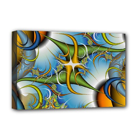 Random Fractal Background Image Deluxe Canvas 18  x 12
