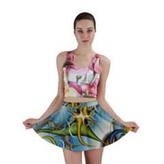 Random Fractal Background Image Mini Skirt