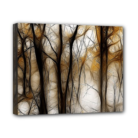 Fall Forest Artistic Background Canvas 10  X 8
