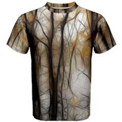 Fall Forest Artistic Background Men s Cotton Tee