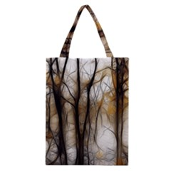 Fall Forest Artistic Background Classic Tote Bag