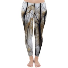 Fall Forest Artistic Background Classic Winter Leggings