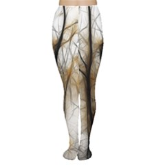 Fall Forest Artistic Background Women s Tights