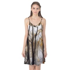Fall Forest Artistic Background Camis Nightgown