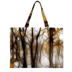 Fall Forest Artistic Background Large Tote Bag
