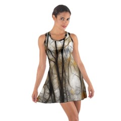 Fall Forest Artistic Background Cotton Racerback Dress