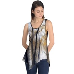 Fall Forest Artistic Background Sleeveless Tunic