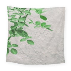 Plants Over Wall Square Tapestry (large)