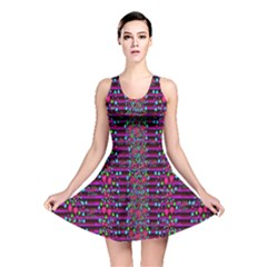 Raining Rain And Mermaid Shells Pop Art Reversible Skater Dress