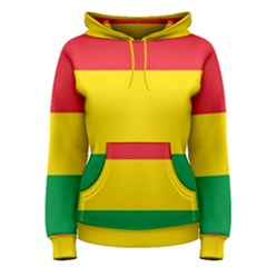 Rasta Colors Red Yellow Gld Green Stripes Pattern Ethiopia Women s Pullover Hoodie