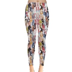 Colorful Pattern Colourful Cartoon Horses Leggings