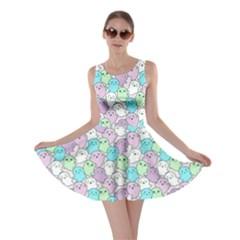 Purple Mint Kawaii Cute Ghosts Skater Dress