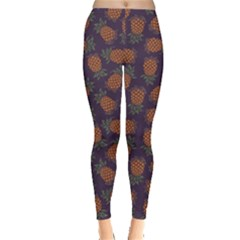 Purple Pattern Of Pineapple Women s Leggings