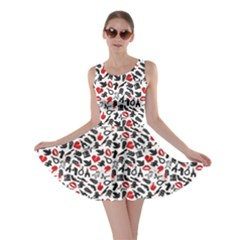 Black Death Pattern Skater Dress
