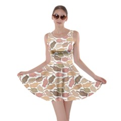 Nude Middle Finger Hands Pattern Skater Dress